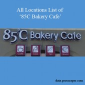 All Locations List Of 85C Bakery Cafe