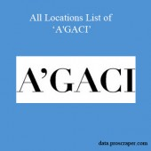 All Locations List Of A'GACI